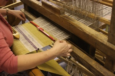 Knitting on looms